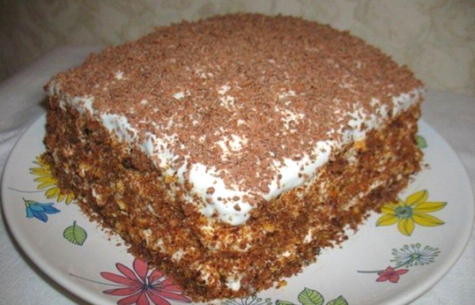 "Domashnij tort ""Mechta"" so sgushchenkoj recept"
