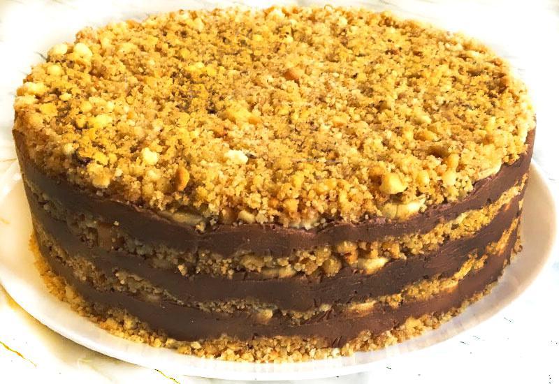 Orekhovyj tort s greckimi orekhami recept