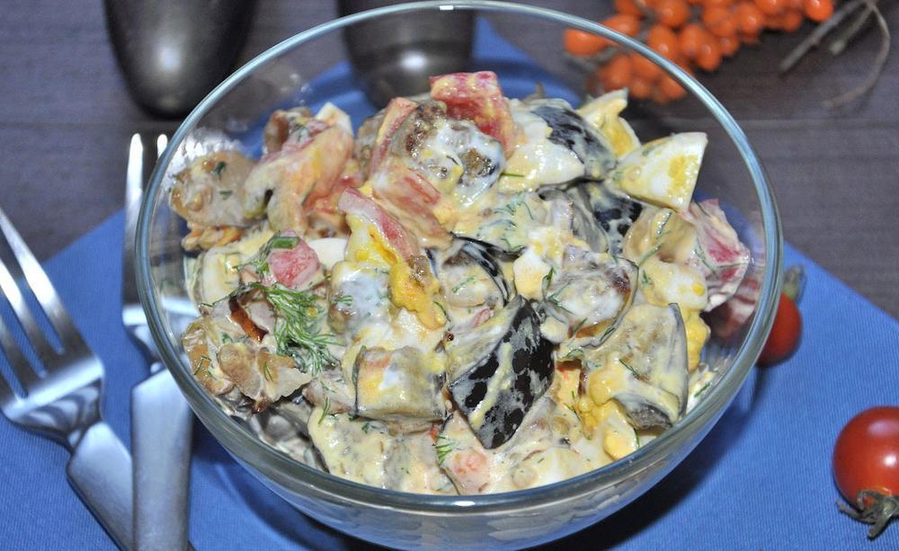 Osennij salat s baklazhanami recept
